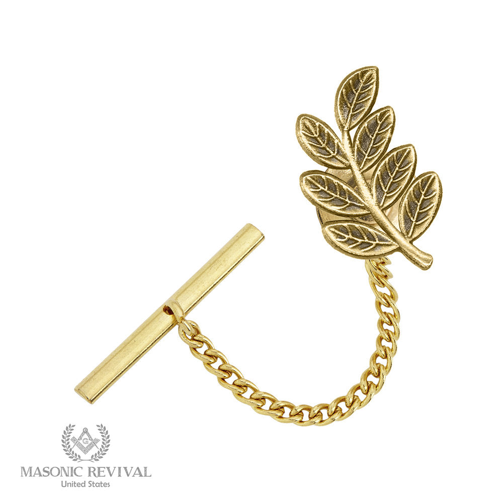 The Sprig of Acacia Tie Tack // Gold