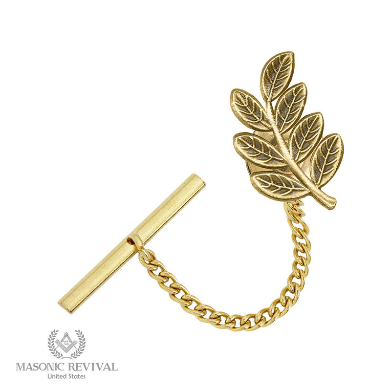 The Sprig of Acacia // Tie Tack Gold