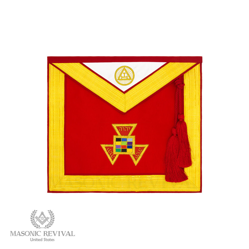 Past High Priest Apron (Red Bullion)