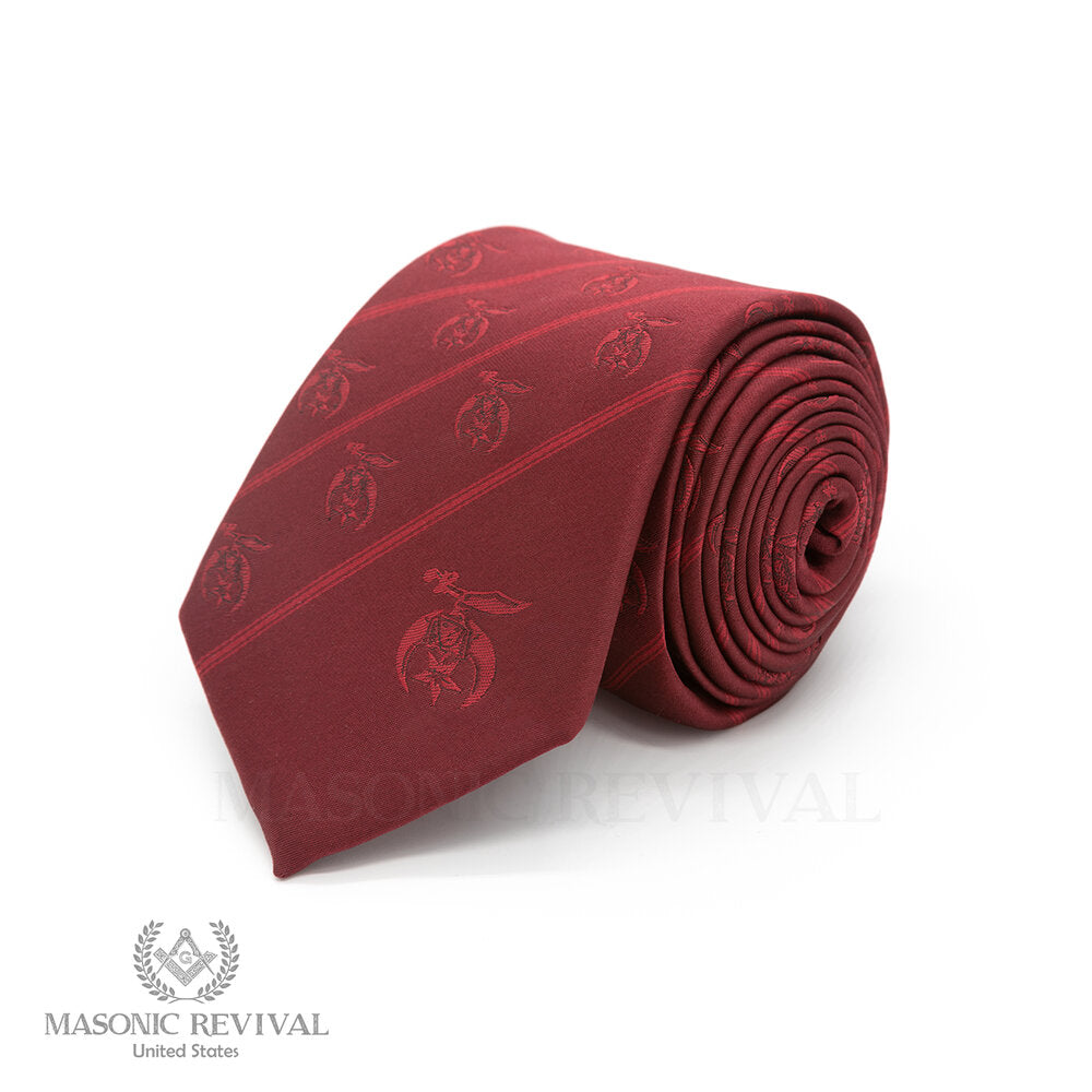 Shriner Necktie // Burgundy