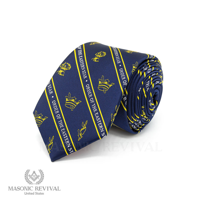Eastern Star Necktie // Blue