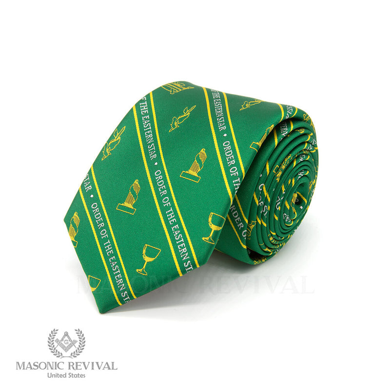 Eastern Star Necktie // Green