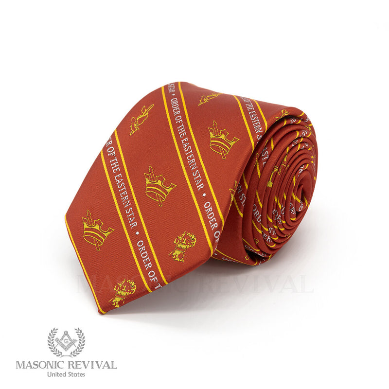 Eastern Star Necktie // Red