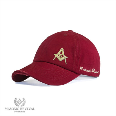Unstructured Cap (Red)