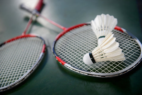 Badminton Rackets Closeup