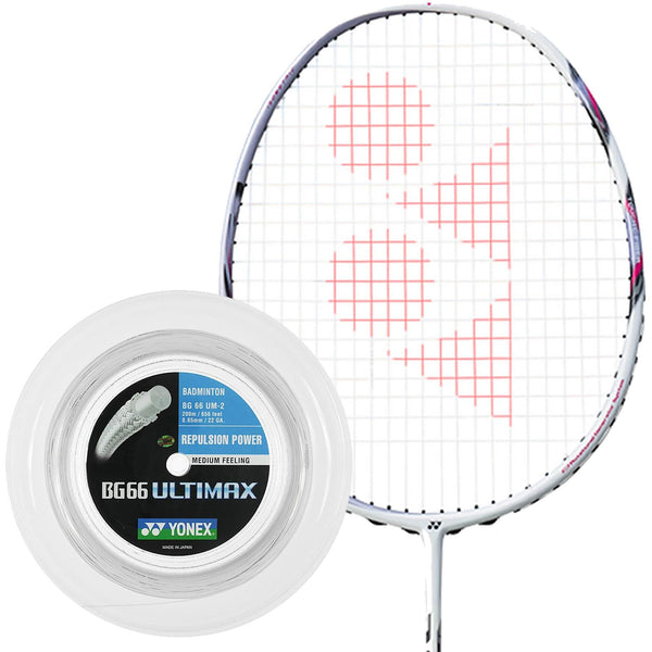 Yonex BG 66 Ultimax Badminton String White - 0.65mm 200m Reel