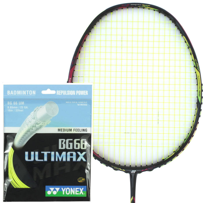 Yonex BG 66 Ultimax Badminton String Yellow - 0.65mm 10m Packet