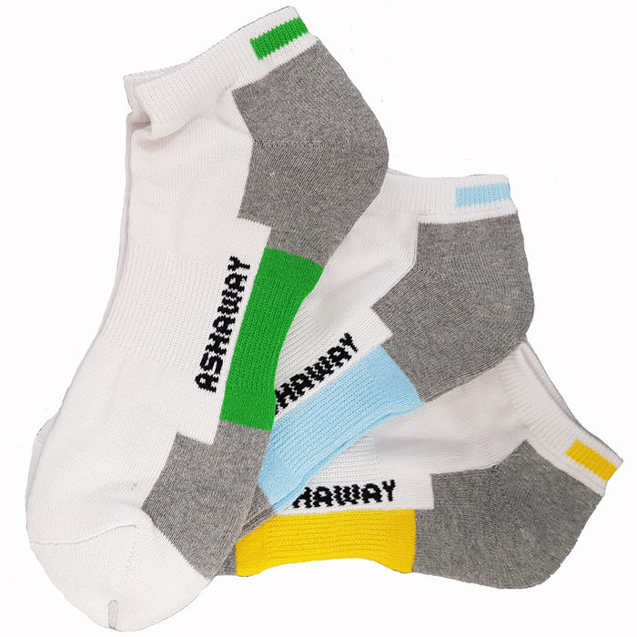 Ashaway Badminton Trainer Ankle Socks - Pack of 3