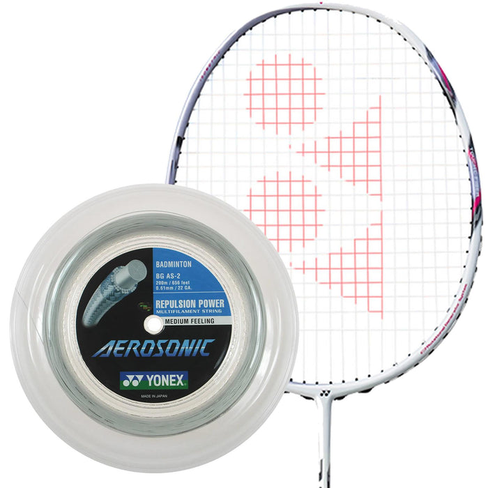 Yonex Aerosonic Badminton String White - 0.61mm 200m Reel