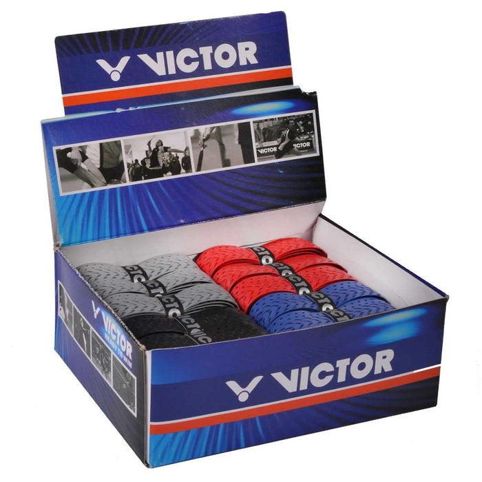 Victor Fishbone Badminton Racket Grip - Box of 25 Assorted Colors