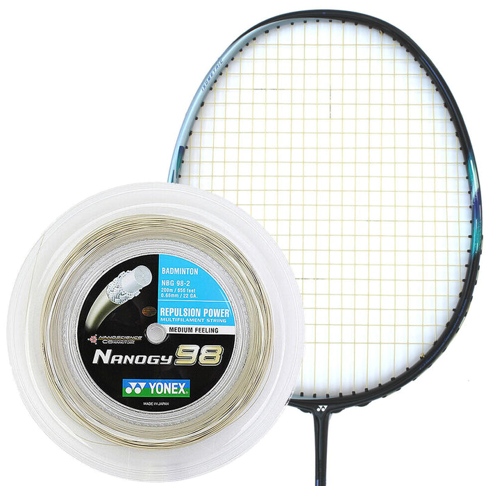 Yonex Nanogy 98 Badminton String Gold - 0.66mm 200m Reel