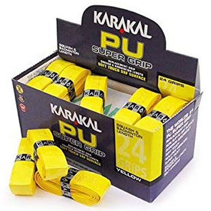 Karakal PU Badminton Super Grip - Pack of 24 - Yellow