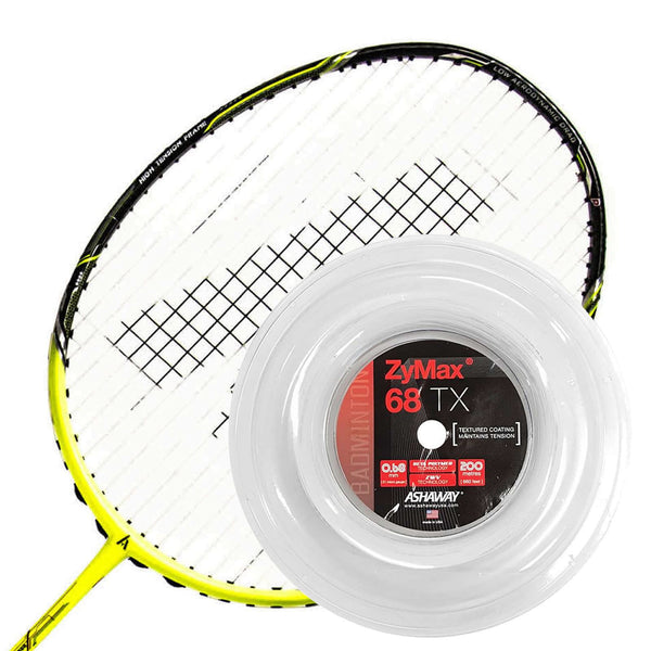 Ashaway Zymax 68 TX Badminton String White  - 0.68MM - 200m Reel