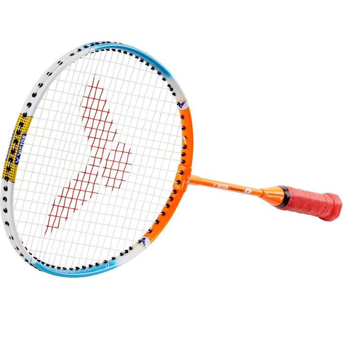 Victor Training Junior Badminton Racket - Orange Blue