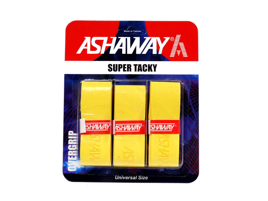 Ashaway Super Tacky Badminton Overgrip - Yellow - Set of 3