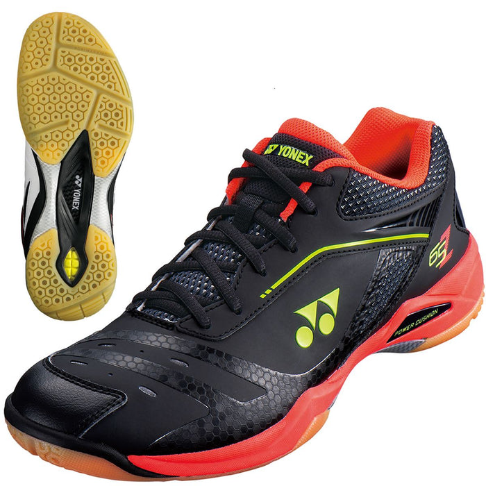 Yonex Power Cushion 65 Z M Mens Badminton Shoes - Black / Red