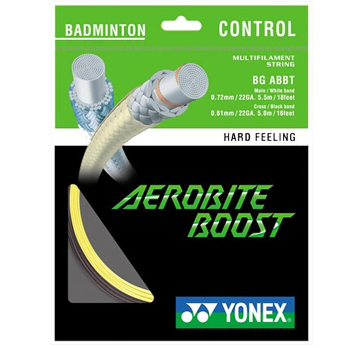 Yonex Aerobite Boost Badminton String Grey Yellow - 0.72/0.61mm 10m Packet
