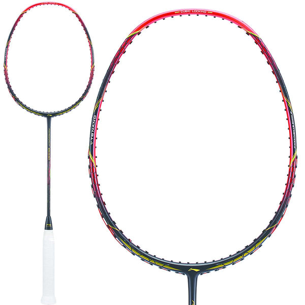 Li-Ning Aeronaut 8000 Badminton Racket - Black Red