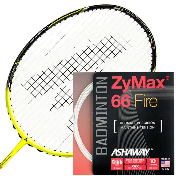 Ashaway Zymax 66 Fire Power Badminton String White  - 0.66MM - 200m Reel