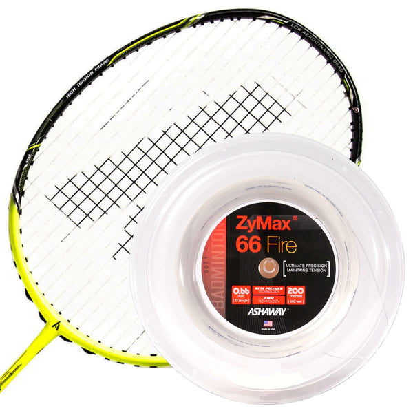 Ashaway Zymax 66 Fire Badminton String White  - 0.66MM - 200m Reel
