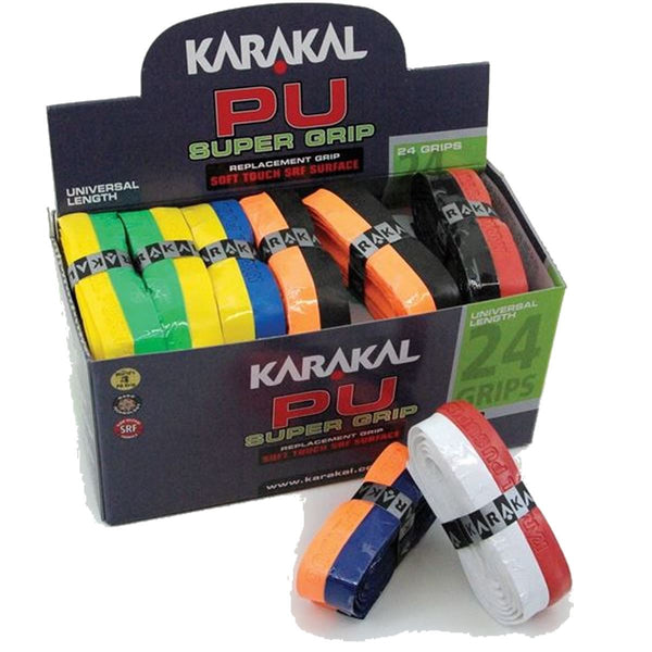 Karakal PU Badminton Super Grip Duo Color Grips - Pack of 24 - Assorted Colors