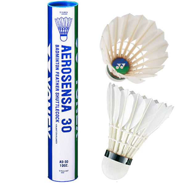 Yonex Aerosena AS30 Badminton Feather Shuttles / Shuttlecocks - Set of 12