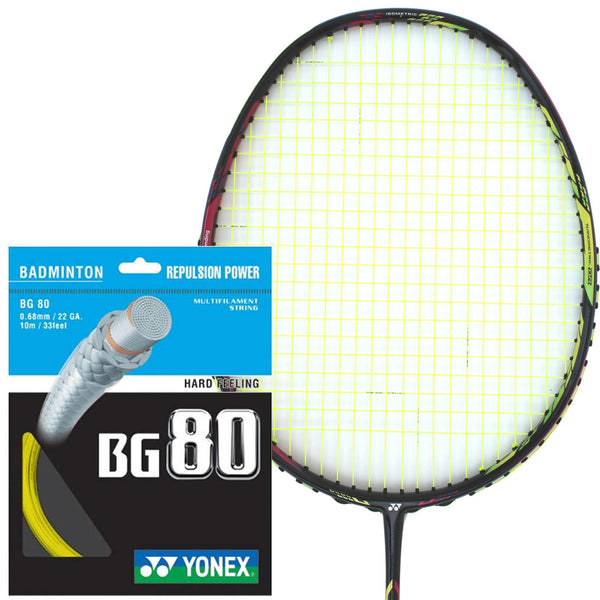 Yonex BG 80 Badminton String Yellow - 0.68mm 10m Packet