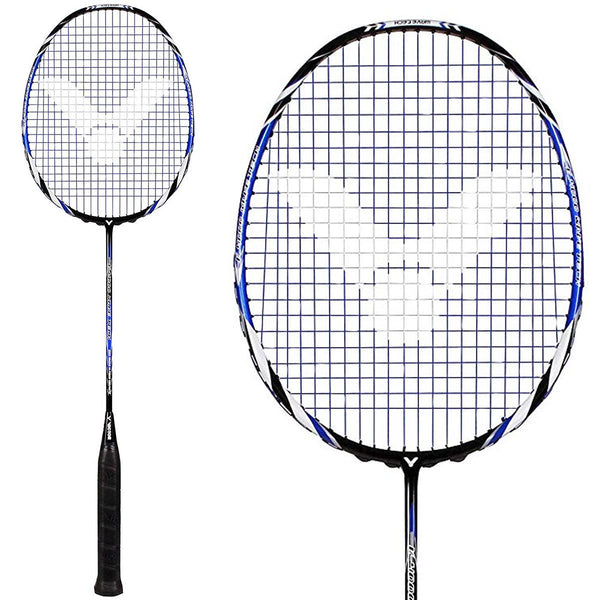 Victor V-4000 Graphite Badminton Racket - Black Blue