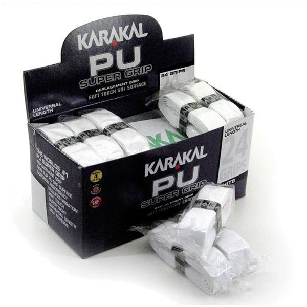 Karakal PU Badminton Super Grip - Pack of 24 - White