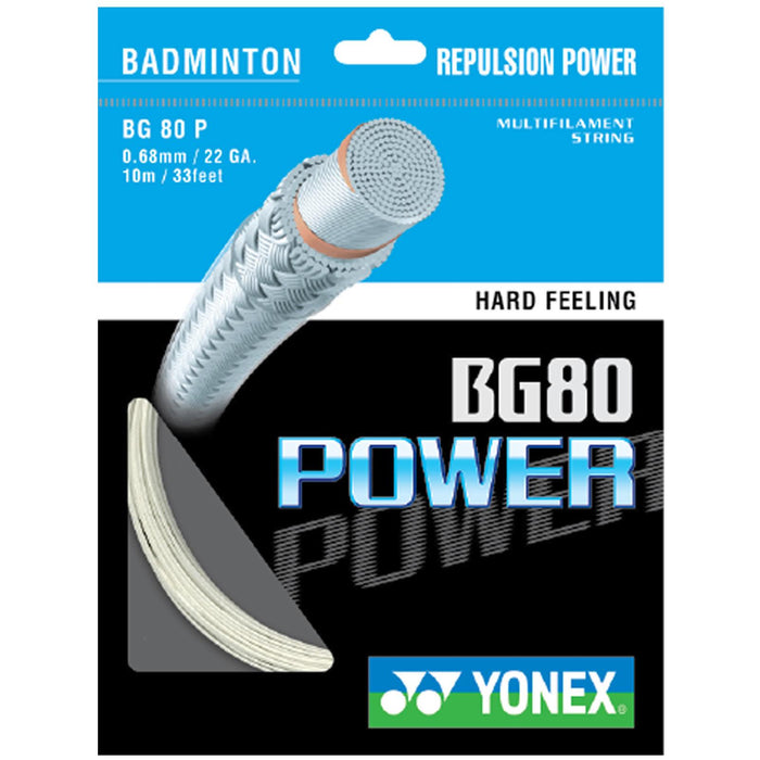 Yonex BG 80P Badminton String White - 0.68mm 10m Packet