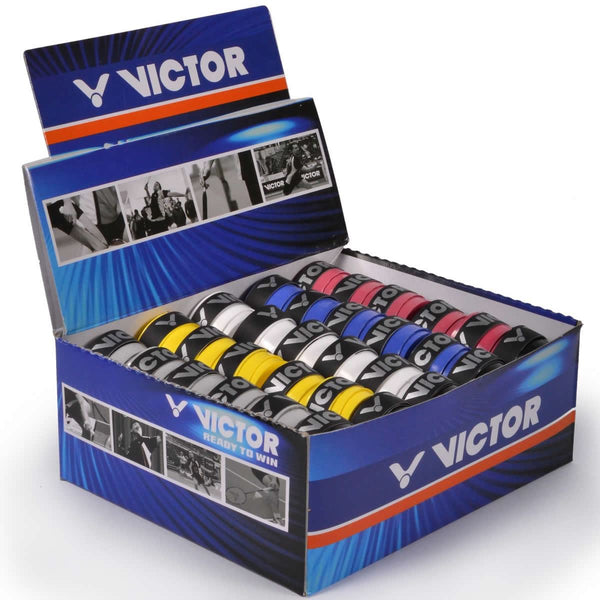Victor Badminton Racket Overgrip Pro  - Box of 60 Assorted Colors