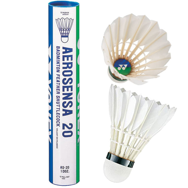 Yonex Aerosena AS20 Badminton Feather Shuttles / Shuttlecocks - Set of 12