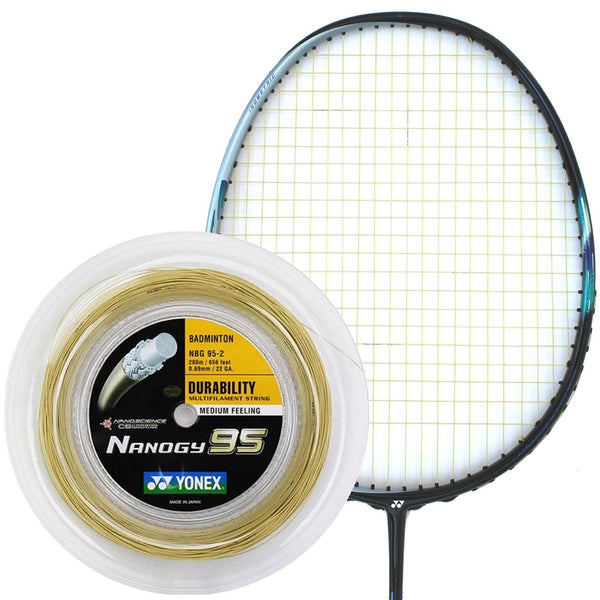Yonex Nanogy 95 Badminton String Gold - 0.69mm 200m Reel