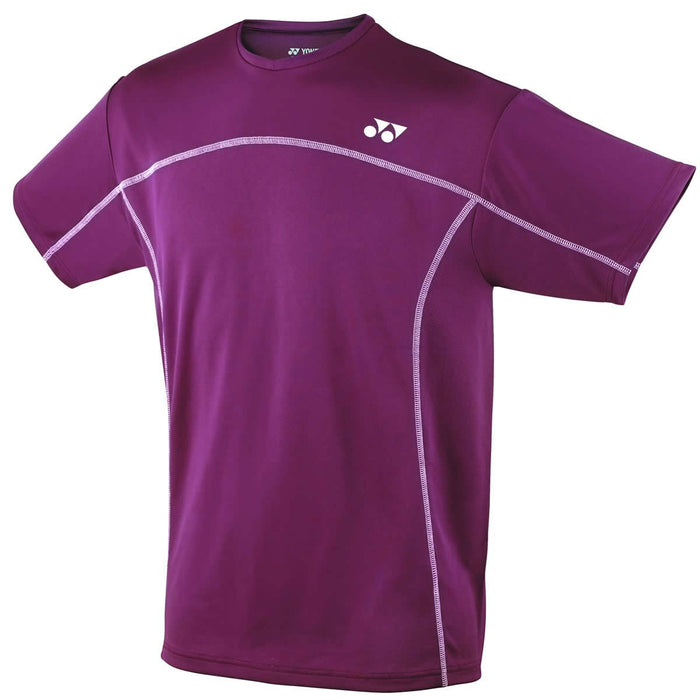 Yonex YTM1 YTJ1 Burgundy Team Mens / Junior Badminton T-Shirt