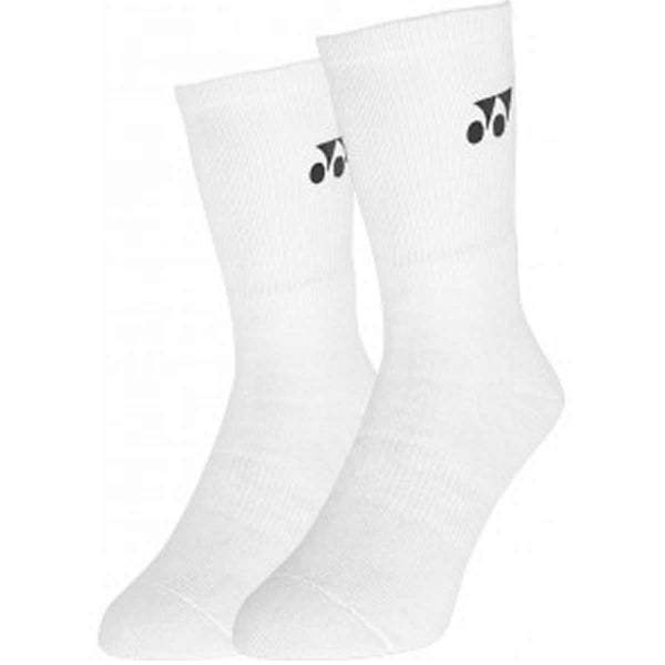 Yonex W8422 White Sports Badminton Socks - Set of 3 Pairs