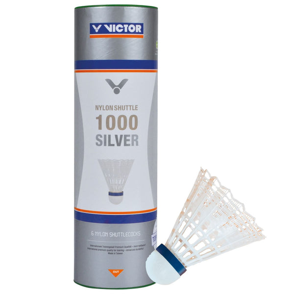 VICTOR 1000 Nylon White Badminton Shuttlecocks