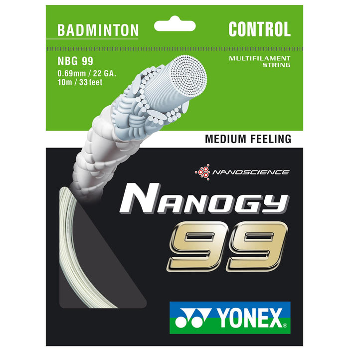 Yonex Nanogy BG 99 Badminton String White - 0.69mm 10m Packet