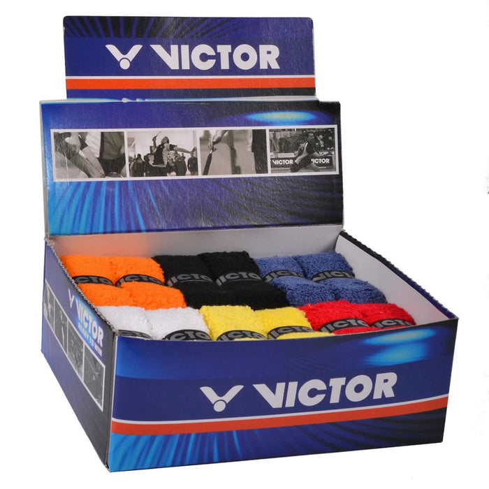 Victor Towel Badminton Racket Grip - Box of 25 Assorted Colors