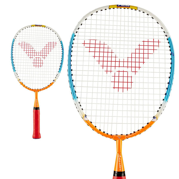 Victor Starter Junior Badminton Racket - Orange Blue