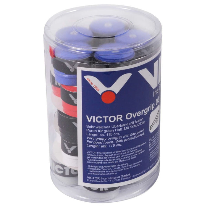 Victor Badminton Racket Overgrip 06 - Box of 25 Assorted Colors