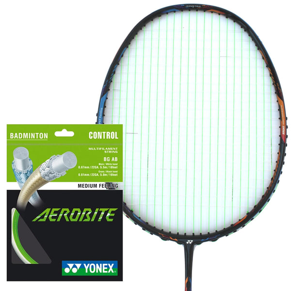 Yonex AeroBite Badminton String White Green - 0.67/0.61mm 10m Packet