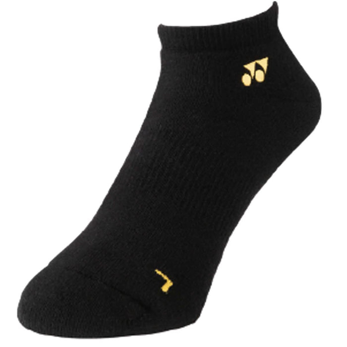 Yonex 19121EX 3D ERGO Black Yellow Low Cut Badminton Socks - 1 Pair
