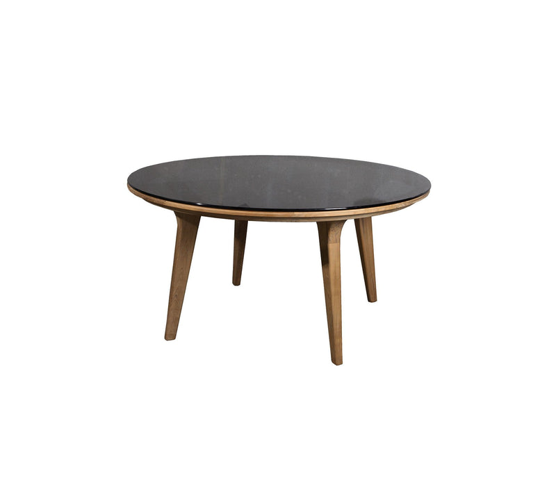 Smokey Black Clear Glass ASPECT ROUND DINING TABLE