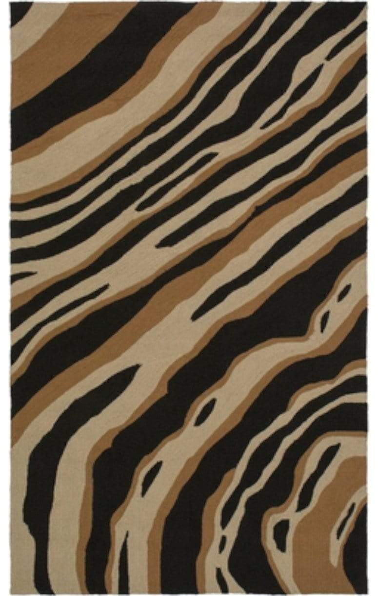 COURTYARD BLACK & CAMEL RUG