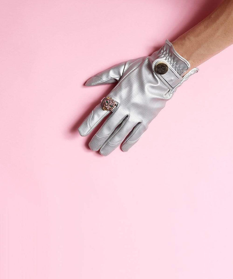 SMALL (SIZE 6/7) / SILVER BULLET GARDEN GLORY (4L) DIAMOND WATERING CAN (GRAPHITE) + METALLIC GLOVES SET