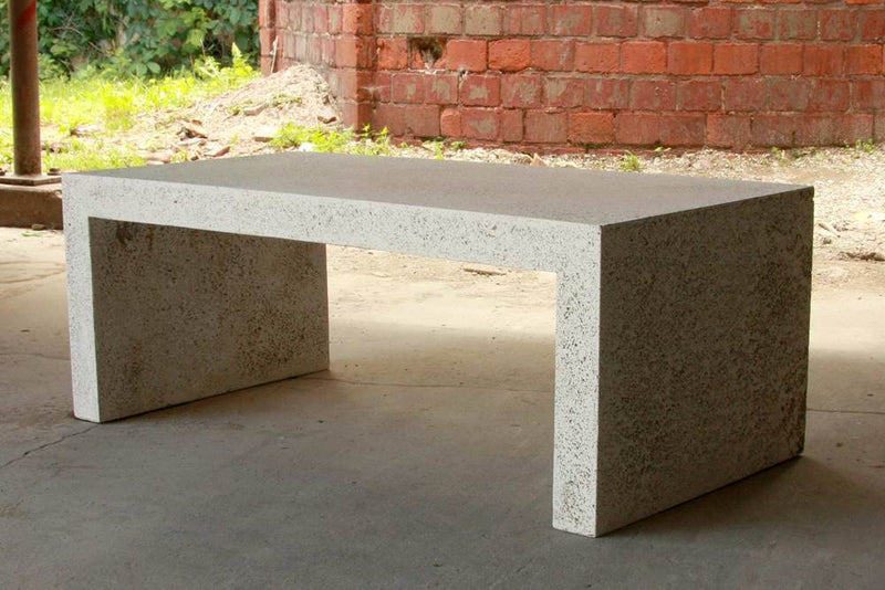 SMALL / NATURAL LYNNE TELL CEMENT COCKTAIL TABLE