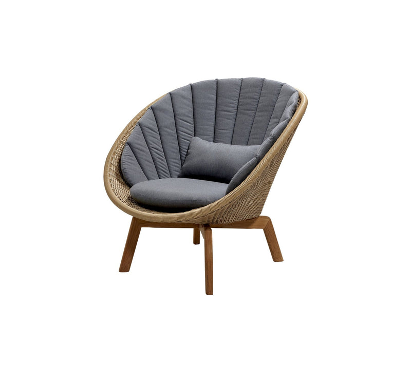 PEACOCK WEAVE LOUNGE CHAIR