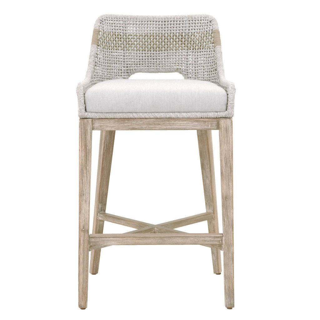WOVEN TAPESTRY OUTDOOR BAR STOOLS