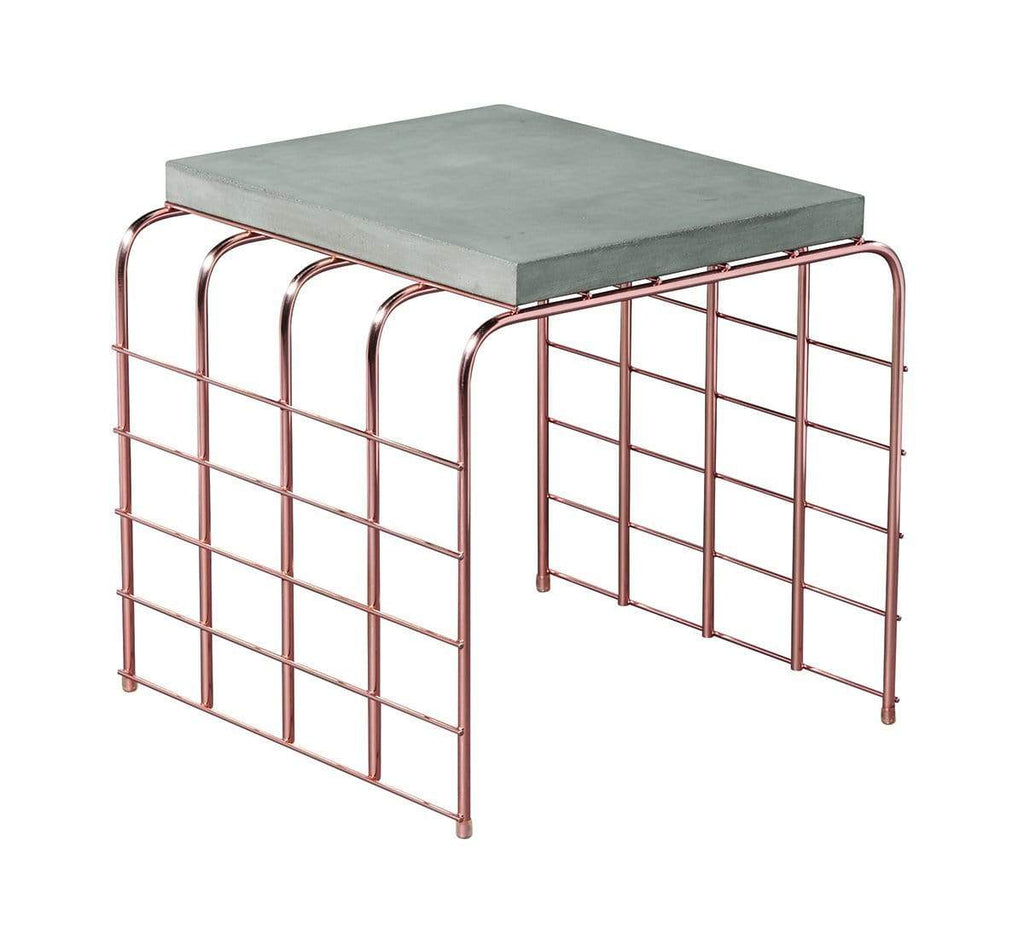 Slate Grey PERPETUAL MESH LINK ACCENT TABLE
