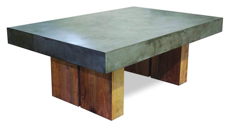 Slate Grey PERPETUAL TEAK SAMOS COFFEE TABLE